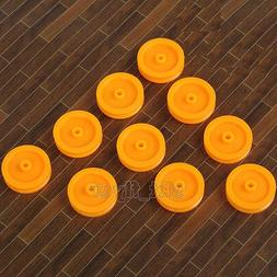 10pcs Small Orange Pulley 17*14*1.9 for DIY Toys Robot Modul