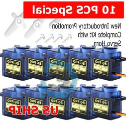 10x 9G iSG90 Micro Servo Motor For RC Robot Helicopter Airpl