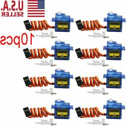 10X 9G SG90 Micro Servo Motor For RC Robot Helicopter Airpla