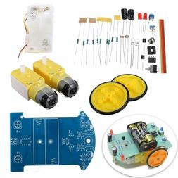 2WD Smart Car Tracking Robot Car Chassis DIY Kit Reduction M