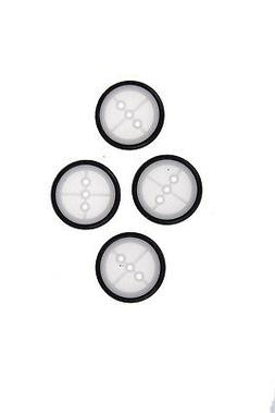 4pcs Rubber Car Tire 29.5*3*1.9mm DIY Toy Pulley Wheels Mode