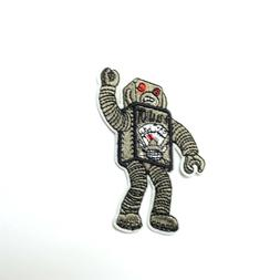 Attack Robot Patch Iron-On/Sew-On Embroidered Applique, Alt