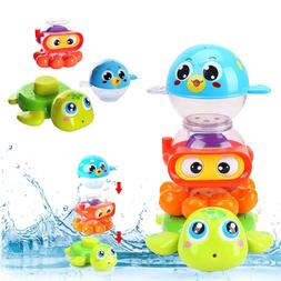 Liberty Imports Baby Bath Toys Waterfall Stack & Spray Sea A