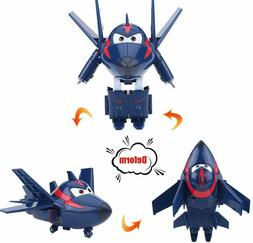 Dilwe Transforming Vehicle Robot Kids Toy Aircraft Action Fi