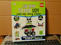 Lego Dk Book & 56 Pcs. What Will You Build? ROBOTS, ALIENS,&
