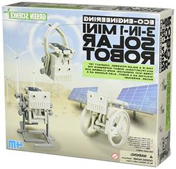 ECO-ENGINEERING 3-IN-1 MINI SOLAR ROBOT KIDS GREEN SCIENCE &