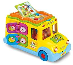 Interactive Yellow School Bus Musical Activity Toy Vehicle w