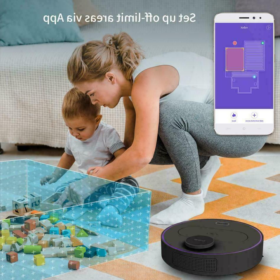360 Robotic Vacuum Cleaner LDS Sweeping & Mopping Control