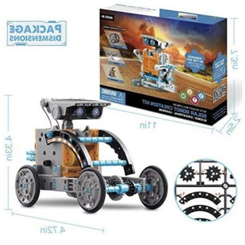 12 1 Solar Robot Kit Educational Learning Science Building Toys