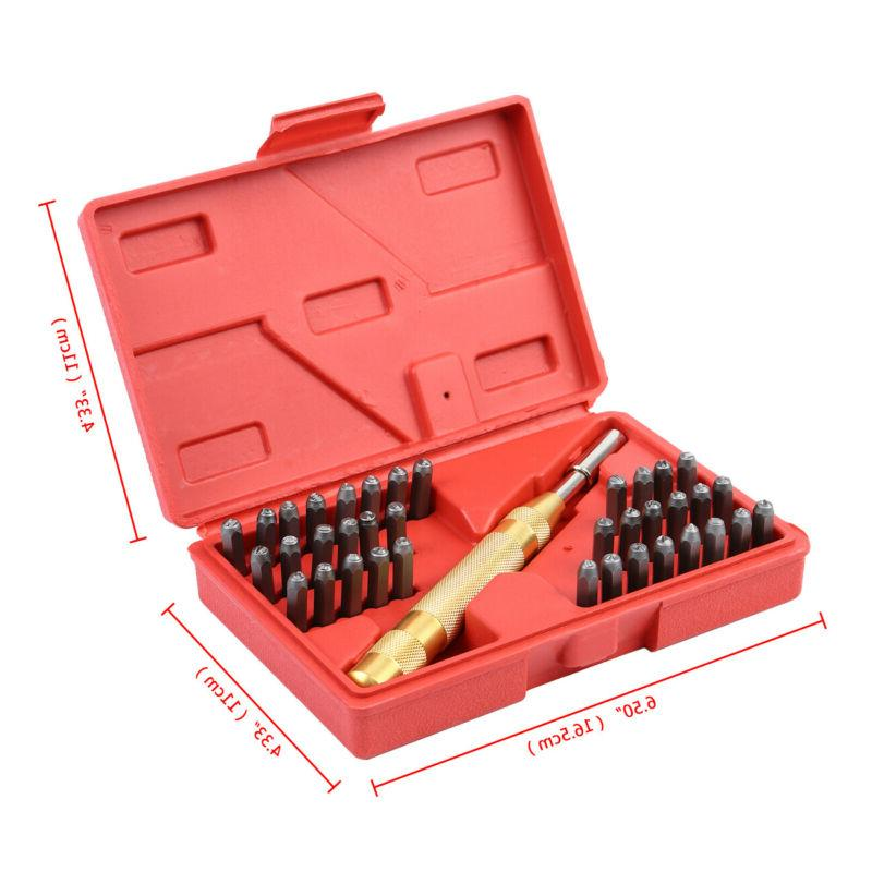 38 Pc Letter Stamp Tool Metal Punch