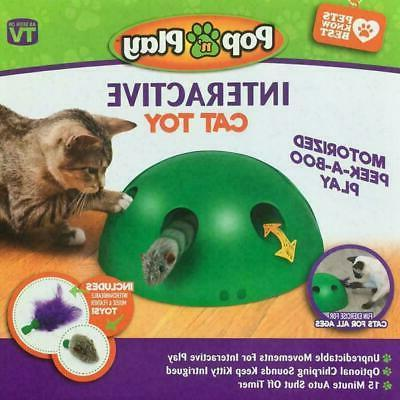 automatic pop n play interactive motion cat