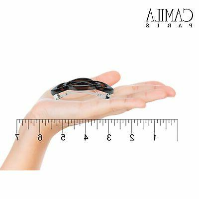 Camila Tortoise French Hair Barrette Automatic Clasp