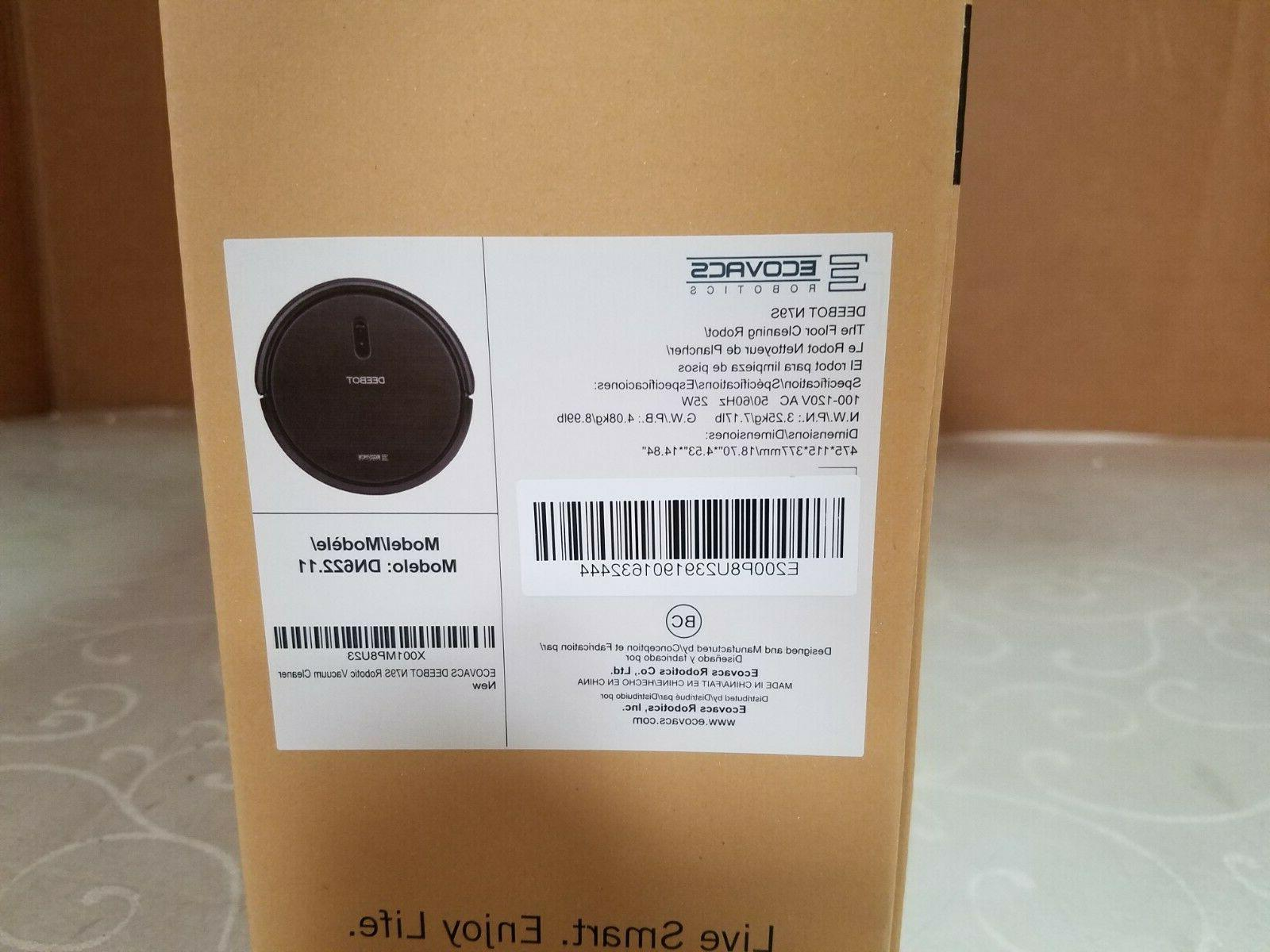 Ecovacs Robotic Vacuum Cleaner Power Suction, Upto Min