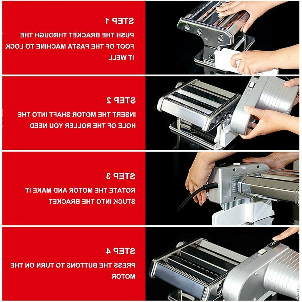Shule Electric Pasta Machine with Motor Stainless Roller