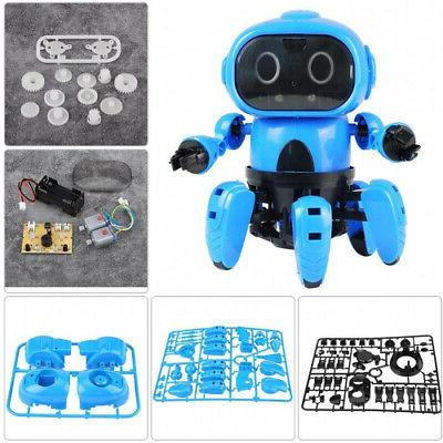 electric robot diy electric toy infrared obstacle