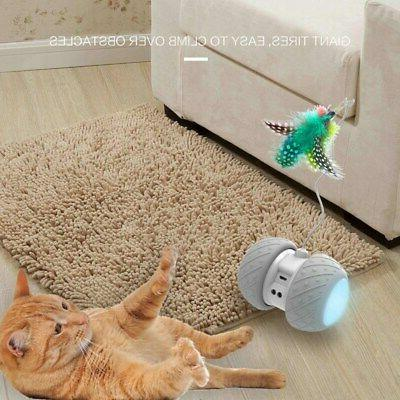 Interactive Robotic Cat Toy USB Rechargeable LED Car 1P