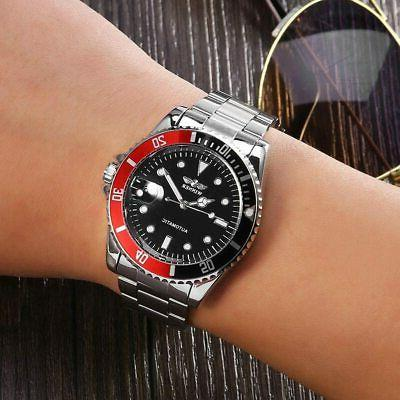 Male Watch Mechanical Battery with Stainless H