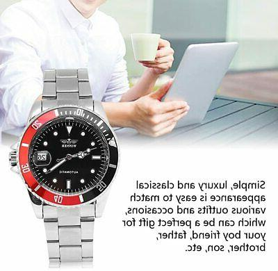 Male Analog Watch Mechanical No Stainless Steel Band 12 H
