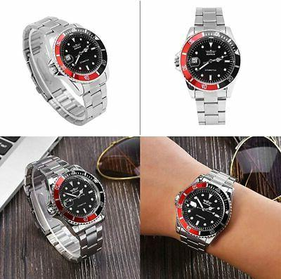 Male Automatic Mechanical Battery Stainless Steel H