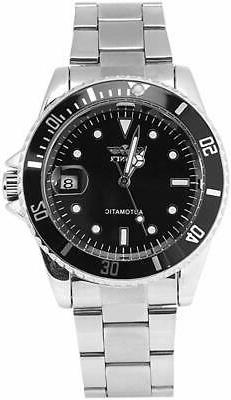 Male Analog Watch Automatic Mechanical No Battery with Stain
