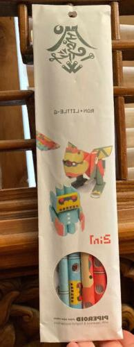 PIPEROID 2in1 Ron & Little G PAPER CRAFT Japanese Robots NEW