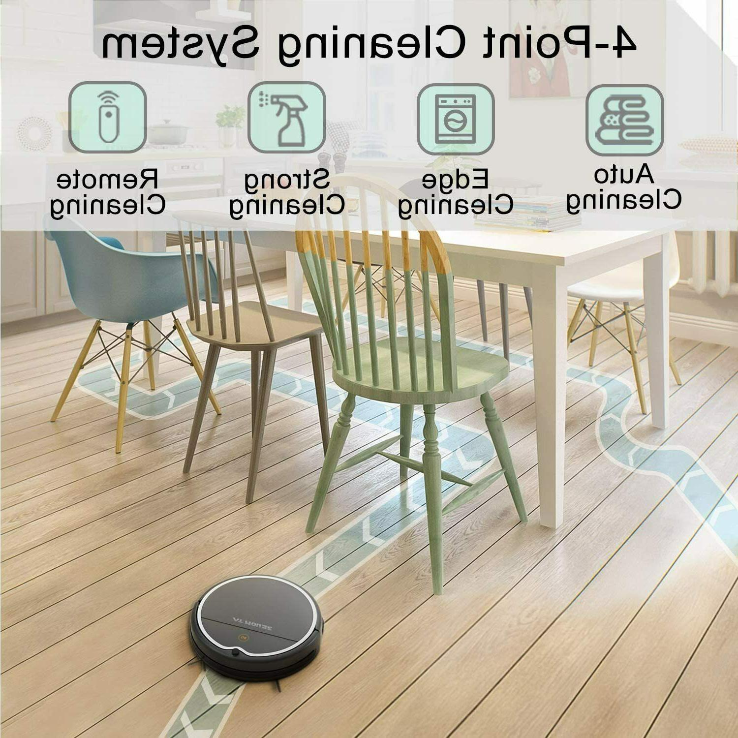 Robot Vacuum Cleaner with Strong Suction, App Controls,