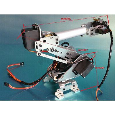 US 6 DOF Mechanical Arm Clamp Claw Mount Robot Kits Sets