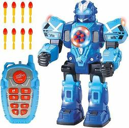 Liberty Imports Large 10 Channel Remote Control Robot Police