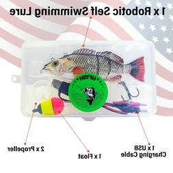 Large Robotic Fishing Lure, Animated Swimbait - Electric Bai