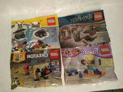 Lot of 4 Lego Creator Pug 3in1, Harry Potter, Robot 3in1, an