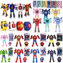 Magic Cartoon Robot Sports Kids Watches Transformation Elect