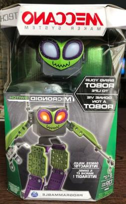 NEW Meccano Micronoid Green SWITCH Programmable Robot Kid To