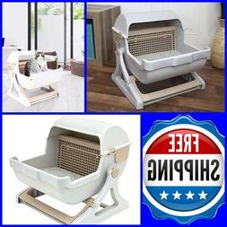 PREMIUM Self Cleaning Cat Litter Box Automatic Pan Lid Cover