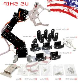 R4 6 Axis DIY Kit Mechanical Robotic Arm Clamp Claw Hand For
