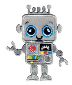 Robot Iron On Patch Embroidered Applique  - Space / Kids / B