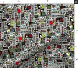 Robot Technology Computer Machine Engineer Fabric Printed by