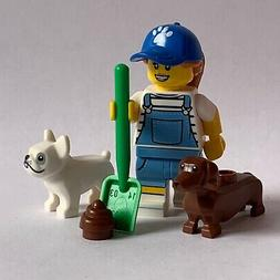 LEGO SERIES 19 - genuine - DOG SITTER MINIFIGURE - as in the