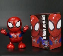 Spider Man Dance Hero Robot Action Figure Toy LED Light With